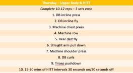 Thursday workout